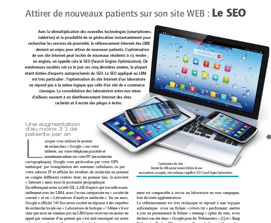 Attirer des patients sur son site WEB